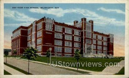 Bay View High School - MIlwaukee, Wisconsin WI Postcard