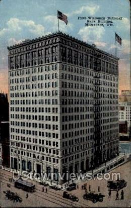 First Wisconsin National Bank Building  - MIlwaukee Postcard