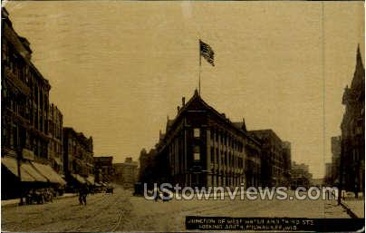 Junction Of West Water - MIlwaukee, Wisconsin WI Postcard