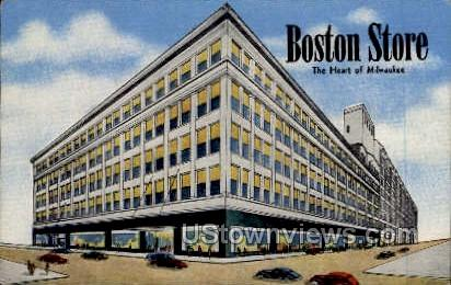 Boston Store - MIlwaukee, Wisconsin WI Postcard