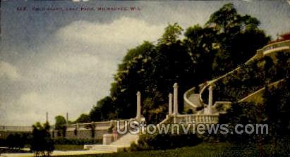 Colonnade, Lake Park - MIlwaukee, Wisconsin WI Postcard