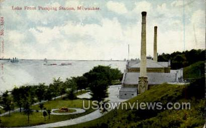 Lake Front Pumping Station - MIlwaukee, Wisconsin WI Postcard