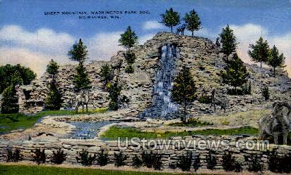 Sheep Mountain  - MIlwaukee, Wisconsin WI Postcard