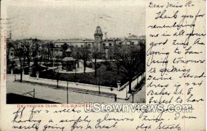 Deutscher Club - MIlwaukee, Wisconsin WI Postcard