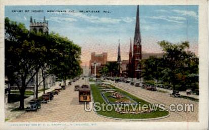 Court Of Honor - MIlwaukee, Wisconsin WI Postcard