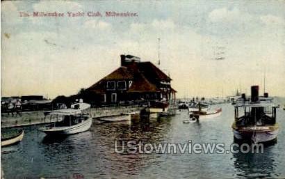 The Milwaukee Yacht Club - Wisconsin WI Postcard
