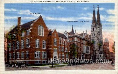 Marquette University - MIlwaukee, Wisconsin WI Postcard