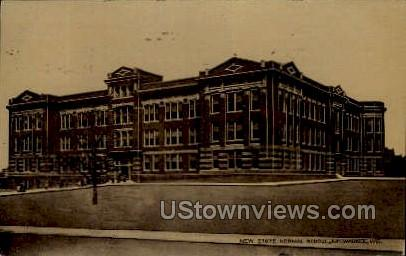 New State Normal School - MIlwaukee, Wisconsin WI Postcard