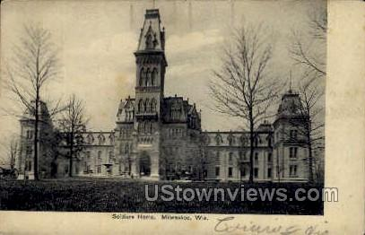 Soldiers Home - MIlwaukee, Wisconsin WI Postcard
