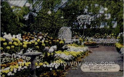 Mitchell Park Conservatory - MIlwaukee, Wisconsin WI Postcard