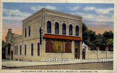 Joe Deutsch's Caf» - MIlwaukee, Wisconsin WI Postcard