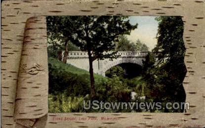 Stone Bridge - MIlwaukee, Wisconsin WI Postcard