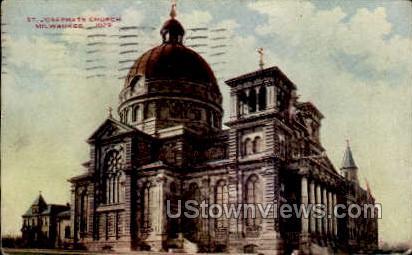 St. Joseph's Church - MIlwaukee, Wisconsin WI Postcard