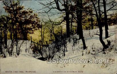 Winter At Lake Park - MIlwaukee, Wisconsin WI Postcard