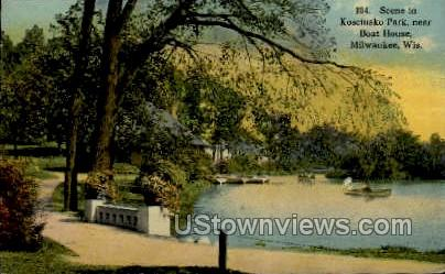 Kosciusco Park - MIlwaukee, Wisconsin WI Postcard