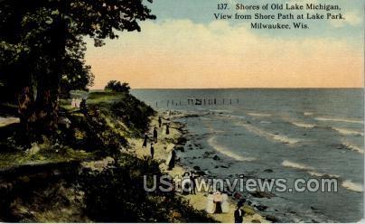 Shores Of Old Lake Michigan - MIlwaukee, Wisconsin WI Postcard