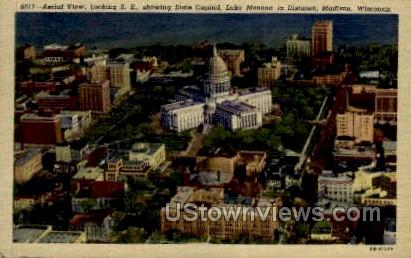 Aerial View - Madison, Wisconsin WI Postcard