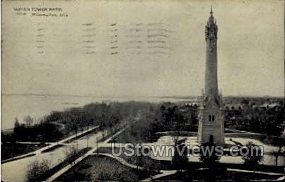 Water Tower Park - MIlwaukee, Wisconsin WI Postcard