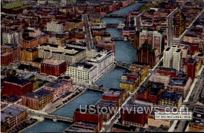 Downtown View Of Wisconsin - MIlwaukee Postcard