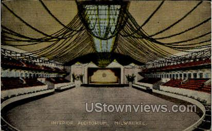 Interior of Auditorium - MIlwaukee, Wisconsin WI Postcard