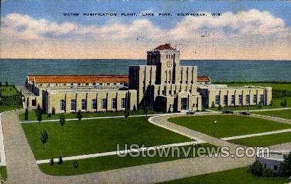 Water Purification Plant - MIlwaukee, Wisconsin WI Postcard