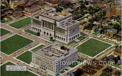 Court House & Safety Building - MIlwaukee, Wisconsin WI Postcard