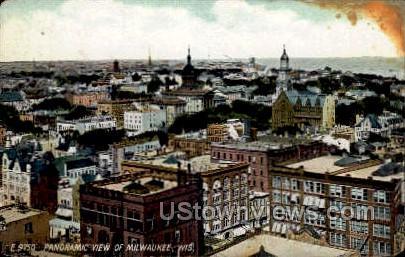 Panoramic View of Milwaukee - Wisconsin WI Postcard