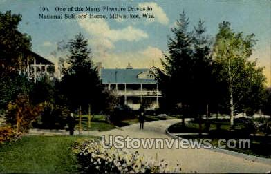 National Soldier's Home - MIlwaukee, Wisconsin WI Postcard