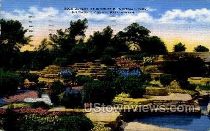 Rock Garden at Charles B. Whitnall Park - MIlwaukee, Wisconsin WI Postcard