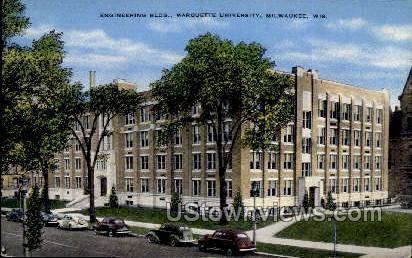 Engineering Building, Marquette University - MIlwaukee, Wisconsin WI Postcard