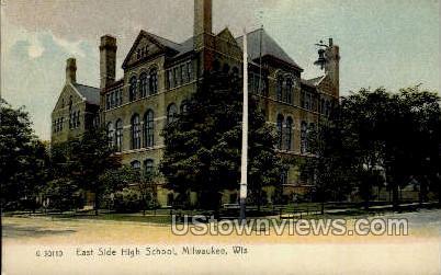 East Side High School - MIlwaukee, Wisconsin WI Postcard