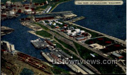 The Port Of Milwaukee - Wisconsin WI Postcard