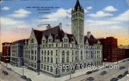 Post Office - MIlwaukee, Wisconsin WI Postcard