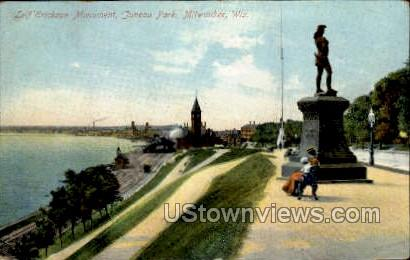 Leif Erickson Monument  - MIlwaukee, Wisconsin WI Postcard
