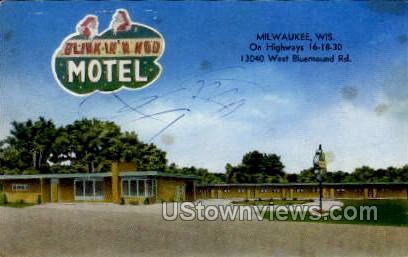 Blink In N Nod Motel - MIlwaukee, Wisconsin WI Postcard