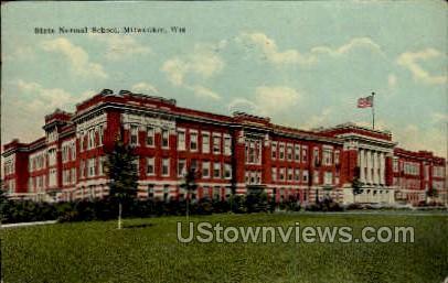 State Normal School - MIlwaukee, Wisconsin WI Postcard