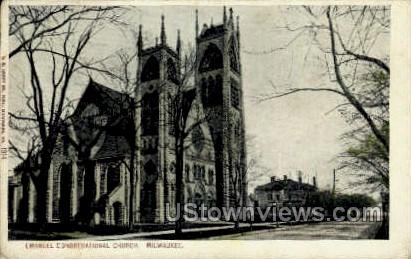 Emanuel Congregational Church - MIlwaukee, Wisconsin WI Postcard