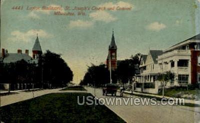 Layton Boulevard - MIlwaukee, Wisconsin WI Postcard