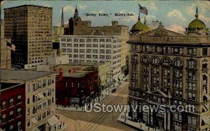 Downtown - MIlwaukee, Wisconsin WI Postcard