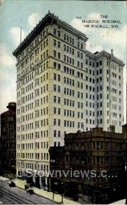 The Majestic Theatre Building - MIlwaukee, Wisconsin WI Postcard