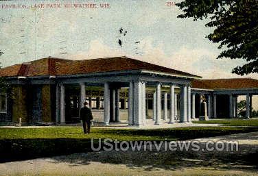 Pavilion In Lake Park - MIlwaukee, Wisconsin WI Postcard