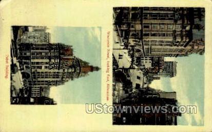 Wisconsin Street - MIlwaukee Postcard