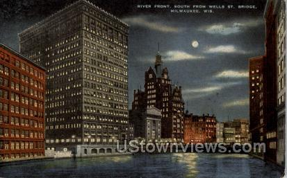 River Front - MIlwaukee, Wisconsin WI Postcard