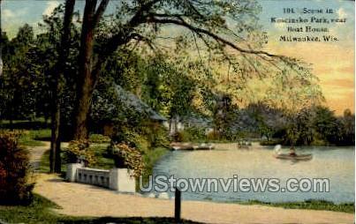 Boat House - MIlwaukee, Wisconsin WI Postcard