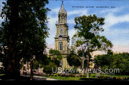 Cathedral Square - MIlwaukee, Wisconsin WI Postcard