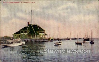 Boat Club House - MIlwaukee, Wisconsin WI Postcard