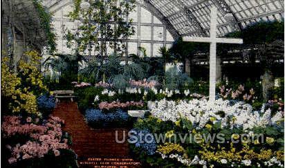 Easter Flower Show - MIlwaukee, Wisconsin WI Postcard