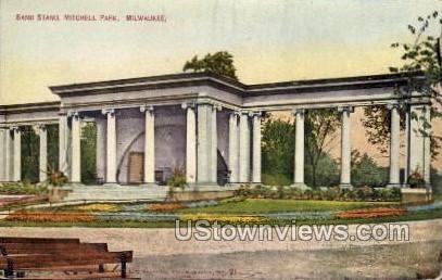 Band Stand, Mitchell Park - MIlwaukee, Wisconsin WI Postcard