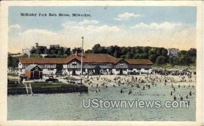 Mckinley Park Bath House - MIlwaukee, Wisconsin WI Postcard