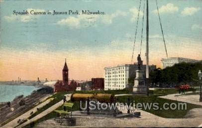 Spanish Canon In Juneau Park - MIlwaukee, Wisconsin WI Postcard